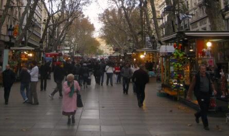 an open air market